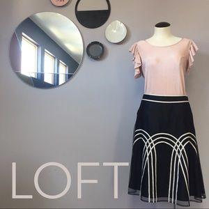 LOFT tulle & ribbon chic Art Deco skirt Sz 4P🎙